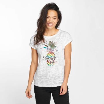Mavi Jeans T-shirt Pineapple Printed bianco