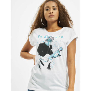 Merchcode Camiseta Ladies Ed Sheeran Guitar blanco