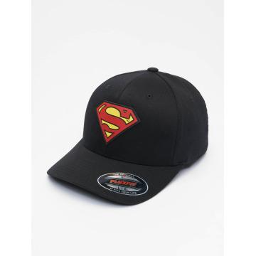 Merchcode Flexfitted-lippikset Supermann musta