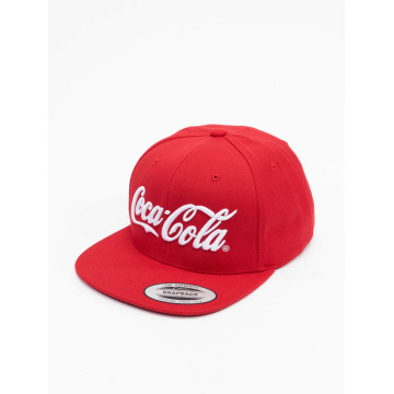 Merchcode Snapback Caps Coca Cola Logo punainen