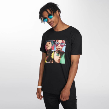 Merchcode T-shirt Gorillaz 4 Faces nero