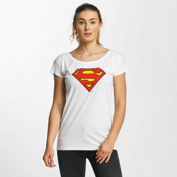Merchcode T-Shirt Superman Logo weiß