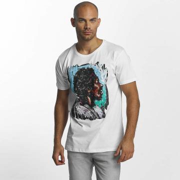 Merchcode t-shirt Jimi Hendrix Palms wit