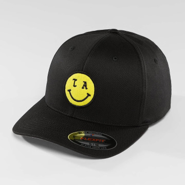Mister Tee Flexfitted Cap LA Smile schwarz