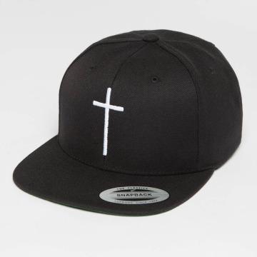 Mister Tee Snapback Cap Cross black
