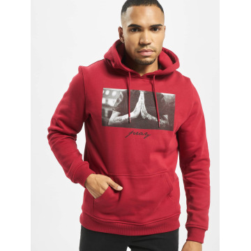 Mister Tee Sweat capuche Pray rouge