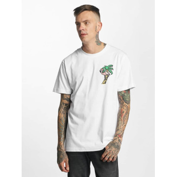 Mister Tee t-shirt Flamingo wit