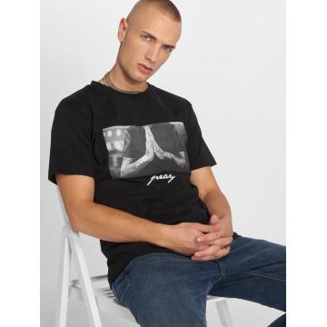 Mister Tee t-shirt Pray zwart