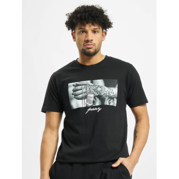 Mister Tee t-shirt Pray 2.0 zwart