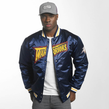 Mitchell & Ness Basebalové bundy HWC Team Golden State Warriors modrá