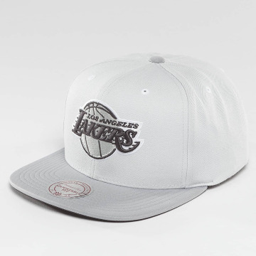 Mitchell & Ness Casquette Snapback & Strapback Grey 2 Tone Plus Series La Lakers gris
