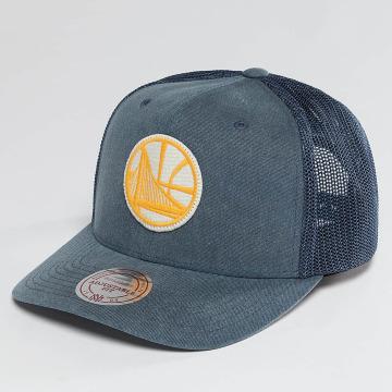 Mitchell & Ness Casquette Trucker mesh NBA Washout 110 Flexfit Golden State Warriors bleu