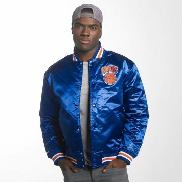 Mitchell & Ness College Jacke HWC Team New York Knicks blau