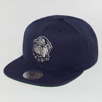 Mitchell & Ness Snapback Cap Wool Solid NCAA xXGeorge townXx blau