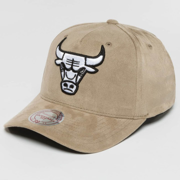 Mitchell & Ness Snapback Cap 110 Curved NBA Chicago Bulls Suede grau