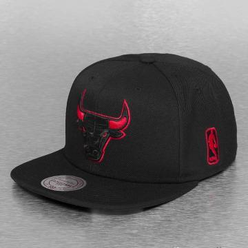 Mitchell & Ness Snapback Cap Solid Teams Siren Chicago Bulls nero