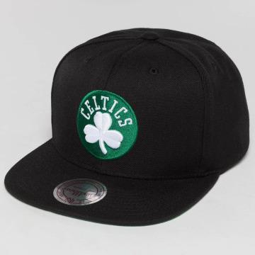 Mitchell & Ness Snapback Cap Wool Solid NBA Boston Celtics nero