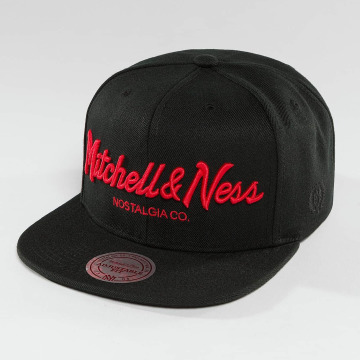 Mitchell & Ness Snapback Cap Red Pop Pinscript schwarz
