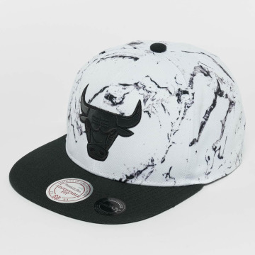Mitchell & Ness snapback cap White And Black Marble Chicago Bulls wit