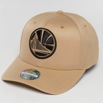 Mitchell & Ness Snapback Caps The Sand And Black 2-Tone NBA Golden State Warriors beige