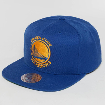 Mitchell & Ness Snapback Caps Wool Solid NBA Golden State blå
