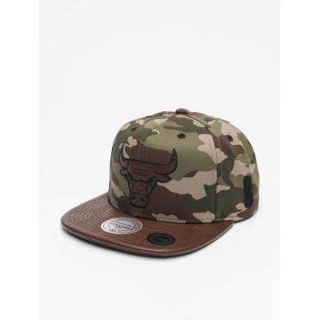 Mitchell & Ness Snapback Caps Dark Woodland Camo Chicago Bulls camouflage