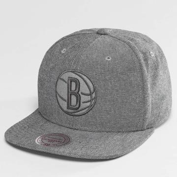 Mitchell & Ness Snapback Caps NBA Italian Washed Brooklyn Nets harmaa