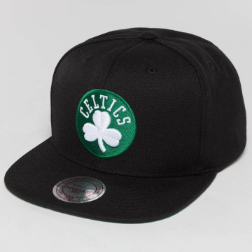 Mitchell & Ness Snapback Caps Wool Solid NBA Boston Celtics musta