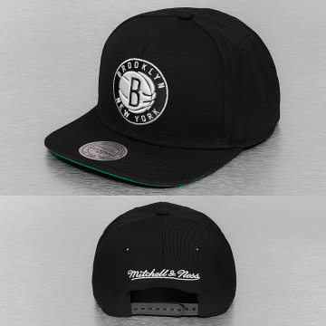 Mitchell & Ness Snapback Caps Wool Solid Brooklyn Nets musta