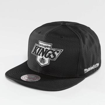 Mitchell & Ness Snapback Caps NHL Black Ripstop Honeycomb LA sort