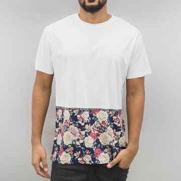 Monkey Business T-Shirt Flowers Hem blanc