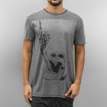 Monkey Business T-Shirt Finger Skull grey