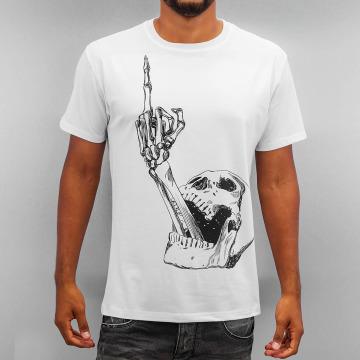 Monkey Business T-skjorter Skull Finger hvit