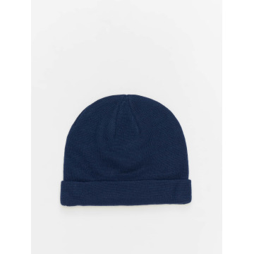 MSTRDS Beanie Short Cuff Knit blau