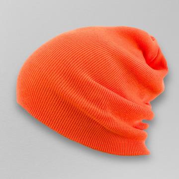 MSTRDS Beanie Basic Flap Long oranje
