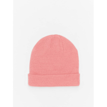 MSTRDS Beanie Short Pastel Cuff Knit pink