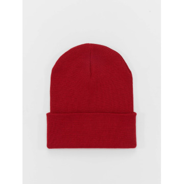 MSTRDS Beanie Basic Flap Long red