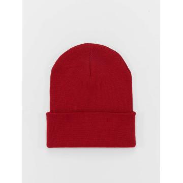 MSTRDS Beanie Basic Flap Long rojo