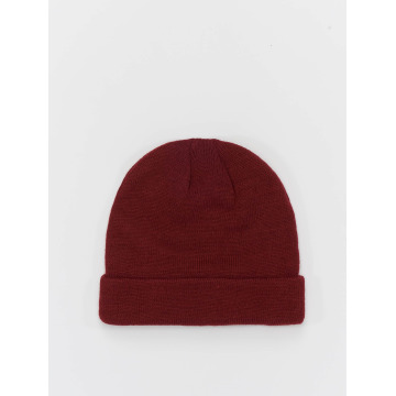 MSTRDS Beanie Short Cuff Knit rosso