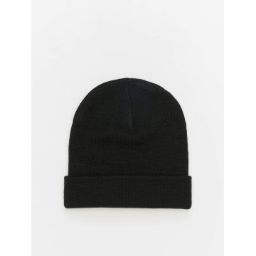 MSTRDS Beanie Basic Flap schwarz