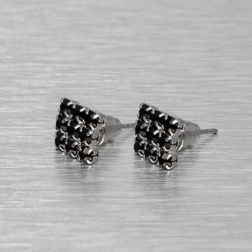 MSTRDS Earring Flat silver colored
