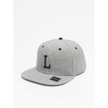 MSTRDS Snapback Cap L Letter gray