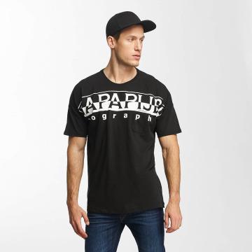 Napapijri T-Shirt Saumur schwarz