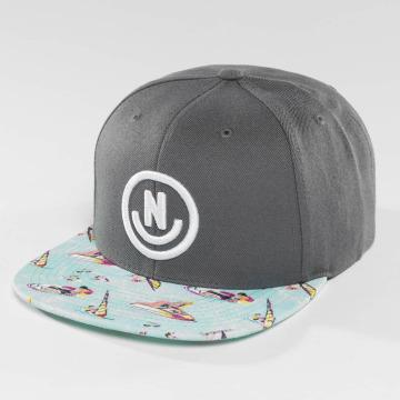 NEFF Snapback Caps Daily Smile Pattern harmaa