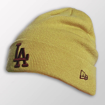 New Era Beanie Seasonal Cuff LA Dodgers gelb