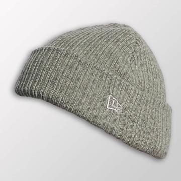 New Era Beanie Wool Mixed Knit grijs