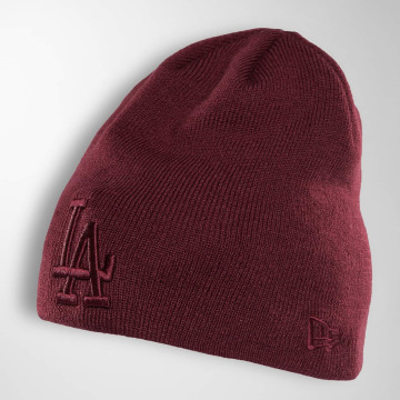 New Era Beanie Seasonal Skull LA Dodgers rot