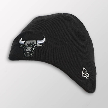 New Era Beanie Reflect Cuff Knit Chicago Bulls zwart