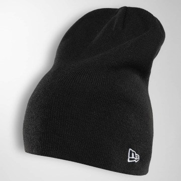 New Era Bonnet Seasonal Long Knit noir
