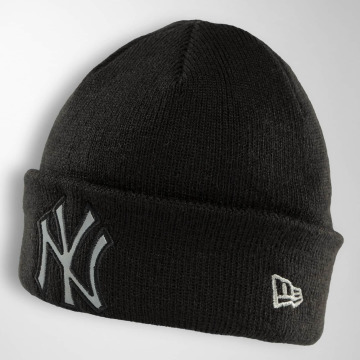 New Era Bonnet Reflect Cuff Knit Ny Yankees noir